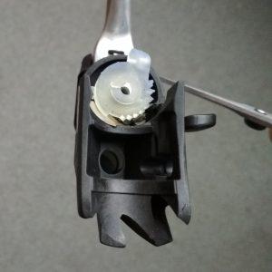 Drukowany element przerzutki rowerowej