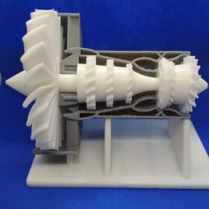 Technologia FFF-Materiał PLA-Model silnika turbowentylatorowego
