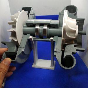 Technologia FFF-Materiał PLA-Model turbosprężarki